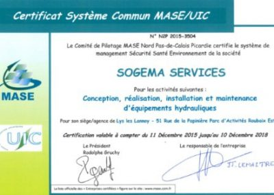 certification Mase UIC